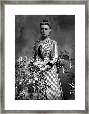 Rhoda Broughton  Writer, In 1889 Framed Print