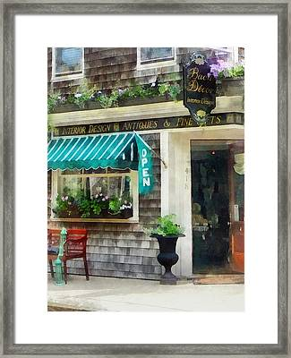 Rhode Island - Antique Shop Newport Ri Framed Print