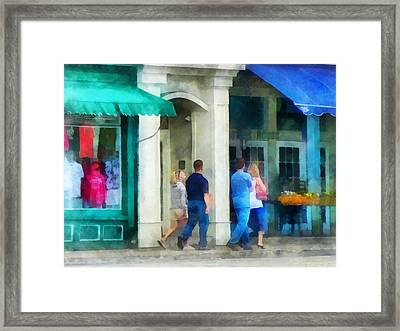 Rhode Island - Eating Out With Friends Newport Ri Framed Print