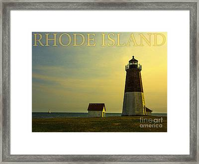 Rhode Island Lighthouse Framed Print by Diane Diederich