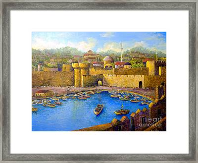 Framed Print featuring the painting Rhodes by Lou Ann Bagnall