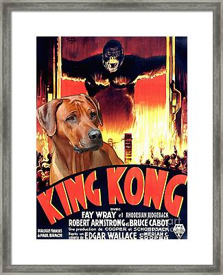 Rhodesian Ridgeback Art Canvas Print - King Kong Movie Poster Framed Print by Sandra Sij