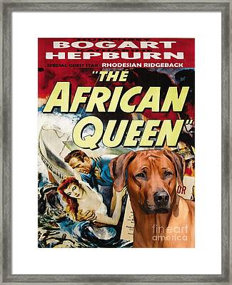 Rhodesian Ridgeback Art Canvas Print - The African Queen Movie Poster Framed Print by Sandra Sij