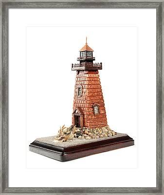 Rhody Lighthouse Framed Print by Seaside Artistry