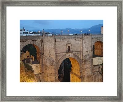 Rhonda Bridge Late Day Framed Print by David  Ortiz