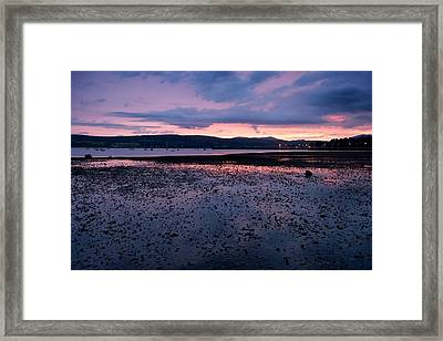 Rhu Marina Sundown Framed Print