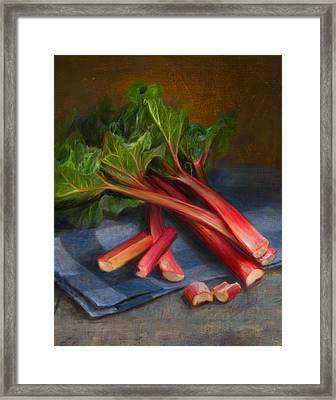 Rhubarb Framed Print by Robert Papp