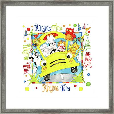 Rhyme Time Framed Print by P.s. Art Studios