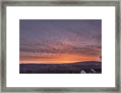 Rhymney Valley Sunrise Framed Print by Steve Purnell
