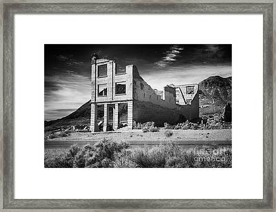Rhyolite Bank In Death Valley Framed Print