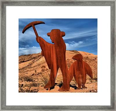 Rhyolite Miners Framed Print by Adam Jewell