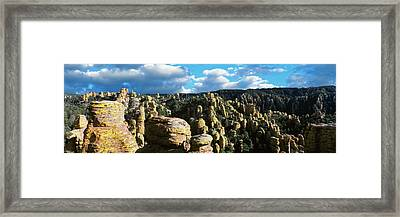 Rhyolite Sculptures Along The Echo Framed Print by Panoramic Images