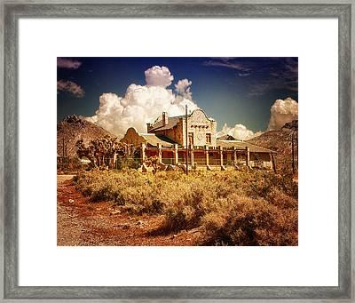 Rhyolite Station Framed Print