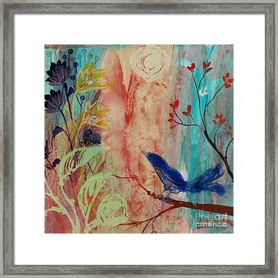 Framed Print featuring the painting Rhythm And Blues by Robin Maria Pedrero