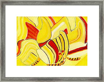Rhythm Of Butterflies Framed Print by Olivia  M Dickerson