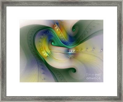 Rhythm Of Life-abstract Fractal Art Framed Print by Karin Kuhlmann
