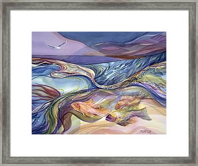 Rhythm Of The Bay Framed Print