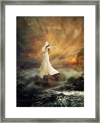 Rhythm Of The Storms Framed Print by Rooswandy Juniawan