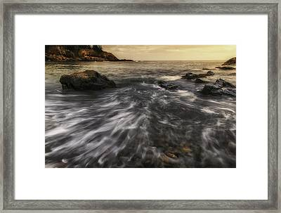 Rhythm Of The Surf - Little Hunters Beach Framed Print by Thomas Schoeller