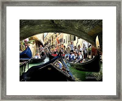 Framed Print featuring the photograph Rhythm Of Venice by Jennie Breeze
