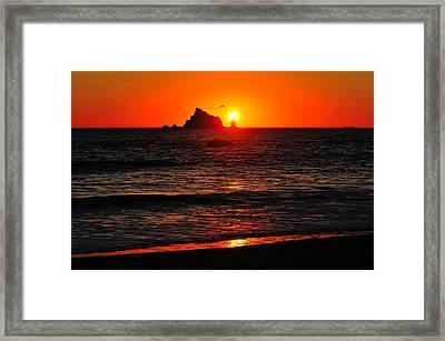 Rialto Beach Sunset Framed Print
