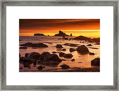 Rialto Beach Sunset Symphony Framed Print