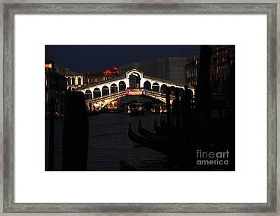 Rialto Bridge Appeal Framed Print by Jacqueline M Lewis