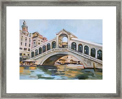 Rialto Bridge Framed Print by Filip Mihail