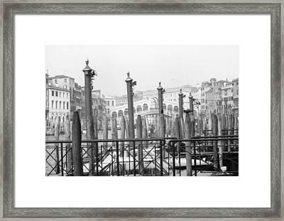 Rialto Bridge Venice Framed Print by Dorothy Berry-Lound