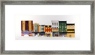 Framed Print featuring the painting Rialto Theater by William Renzulli