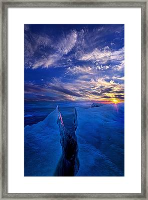 Ribband Of Blue Framed Print by Phil Koch