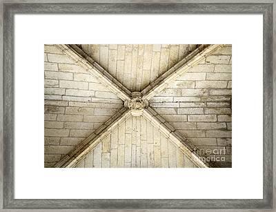 Ribbed Vault Keystone Framed Print by Sami Sarkis