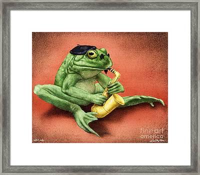 Ribbit Riff... Framed Print by Will Bullas