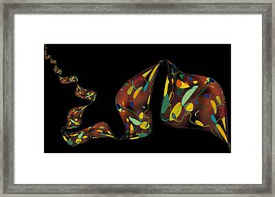 Ribbon Bubbles Framed Print by Constance Krejci