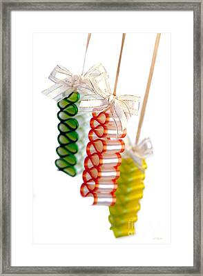 Ribbon Candy Framed Print by Iris Richardson