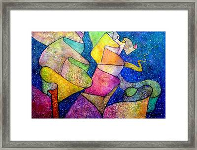 A Ribbon In The Sky For Our Love Framed Print