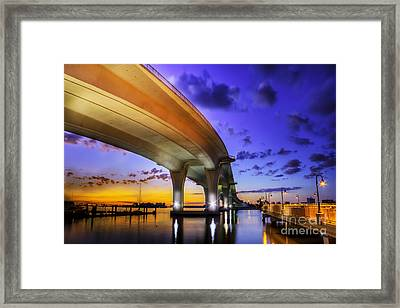 Ribbon In The Sky Framed Print by Marvin Spates
