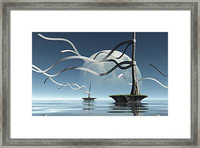 Ribbon Island Framed Print by Cynthia Decker