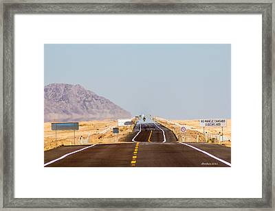 Ribbon Of Asphalt Framed Print