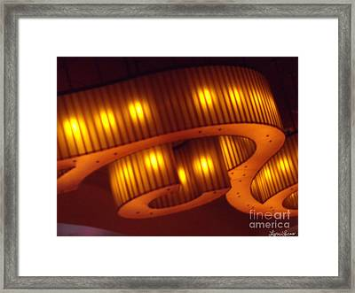 Framed Print featuring the photograph Glowing Ribbon by Lyric Lucas