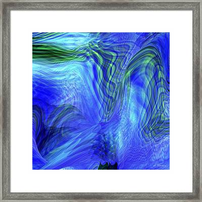 Framed Print featuring the digital art Ribbon Of Light by rd Erickson