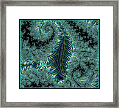 Framed Print featuring the digital art Ribbon Of Stairs by Melissa Messick