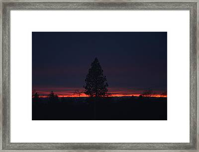 Ribbon Of Sunset Framed Print