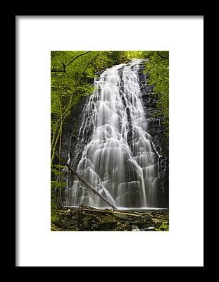 Crabtree Falls Framed Prints