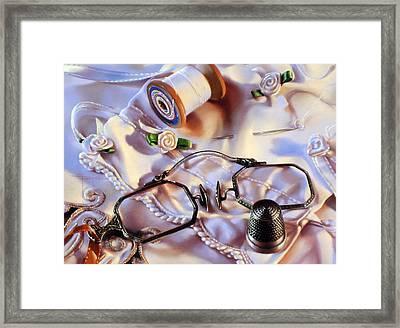 Ribbon Rosettes Framed Print by Dianna Ponting