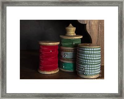 Ribbon Spools Framed Print