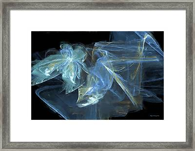 Ribbons And Bows Abstract Framed Print by Wayne Bonney