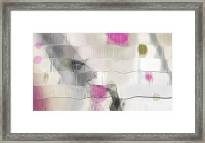 Ribbons And Drips Framed Print by Constance Krejci