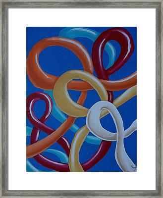 Ribbons In The Sky Framed Print