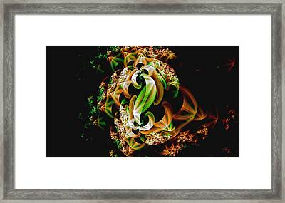 Framed Print featuring the digital art Ribbons by Lea Wiggins